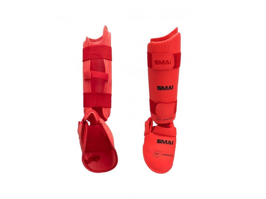 WKF chrániče holení a nártů SMAI - červená barva