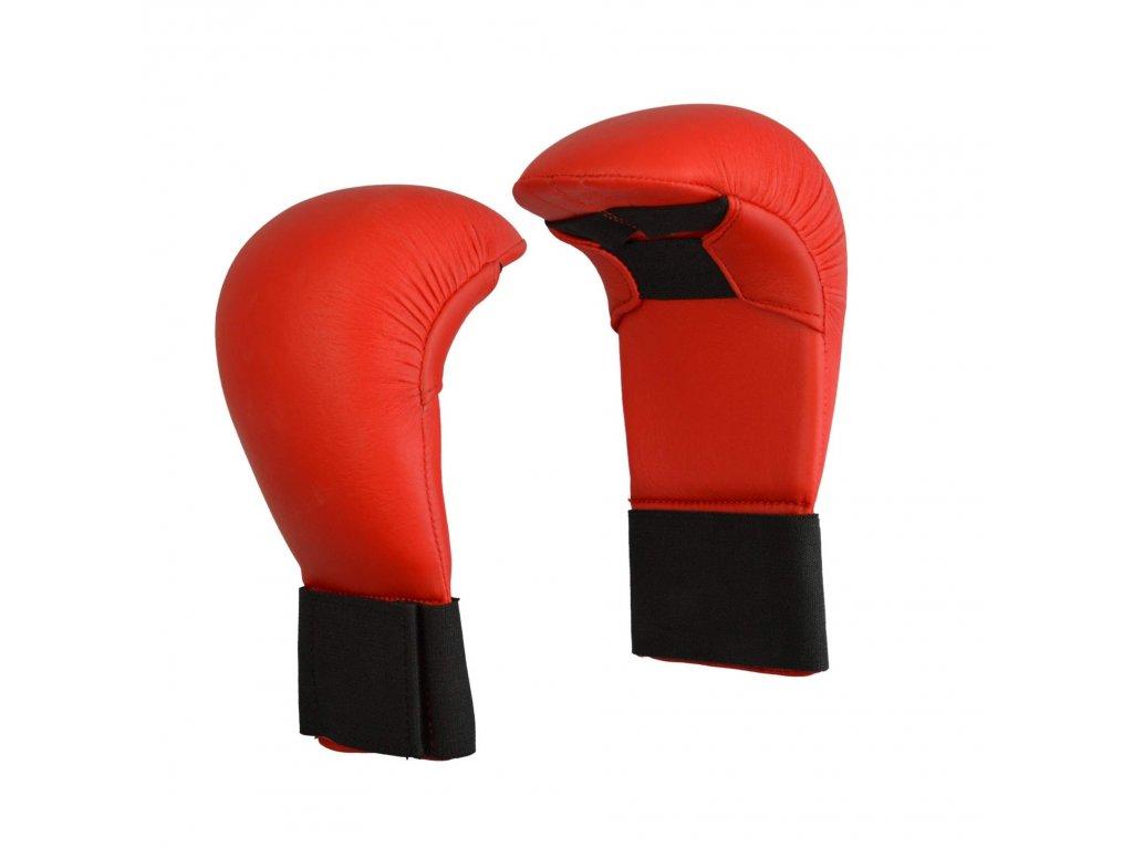 Chrániče rukou karate PX - červená barva