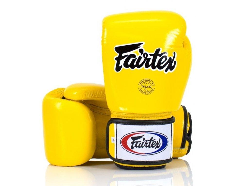 Boxerské rukavice Fairtex BGV1 - žlutá barva