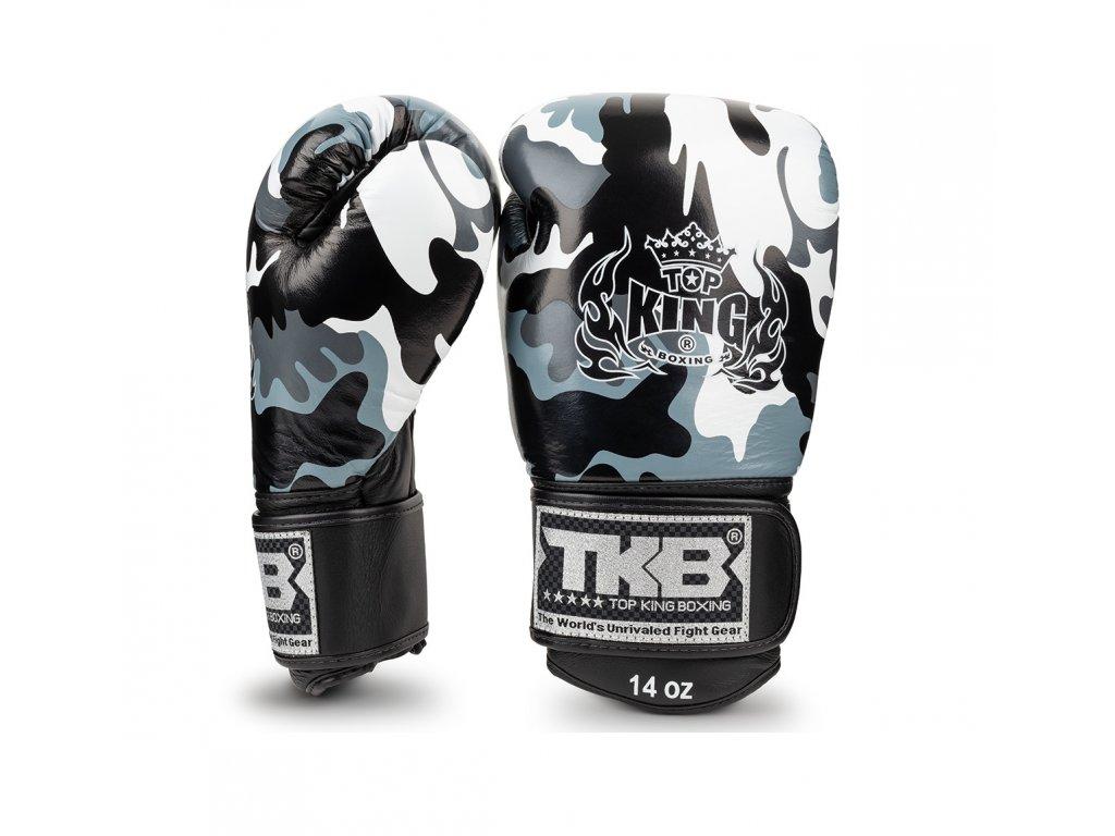 Top King Boxing kožené boxerské rukavice Ultimate Camo