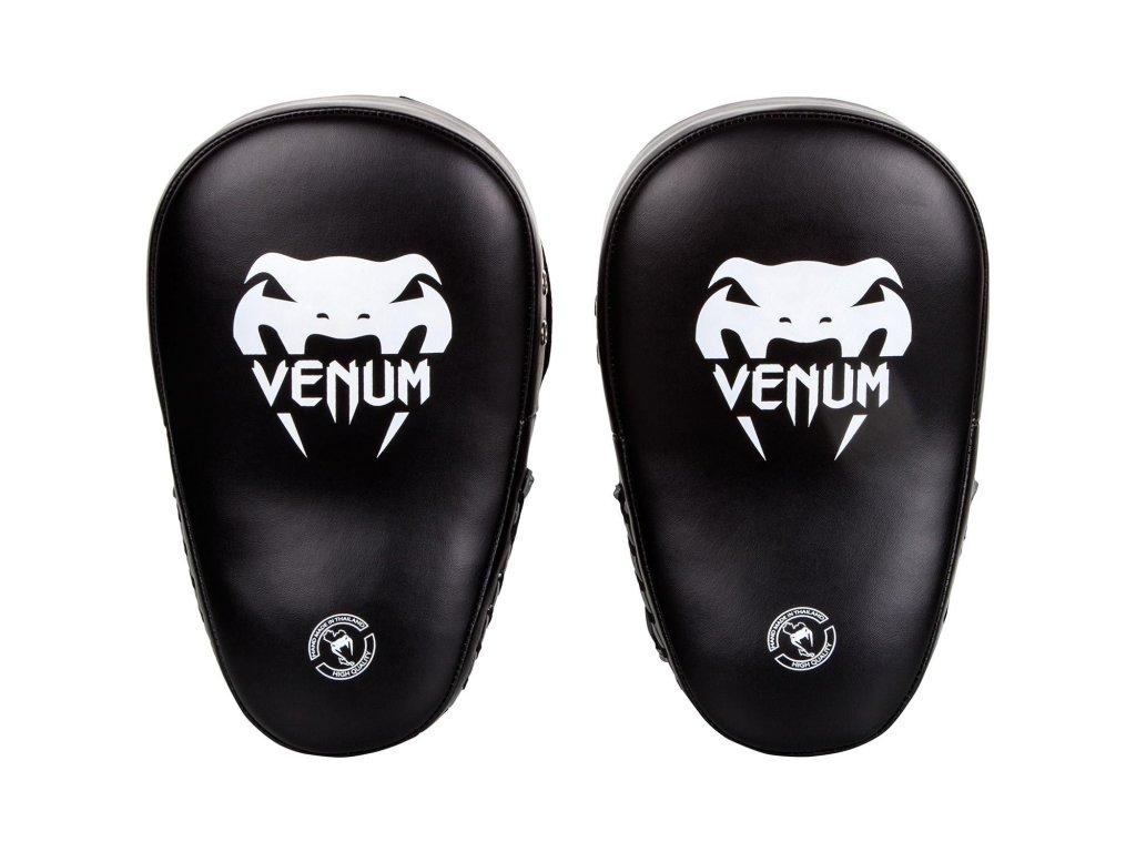 Boxerské lapy Venum Elite - černá barva/bílé logo