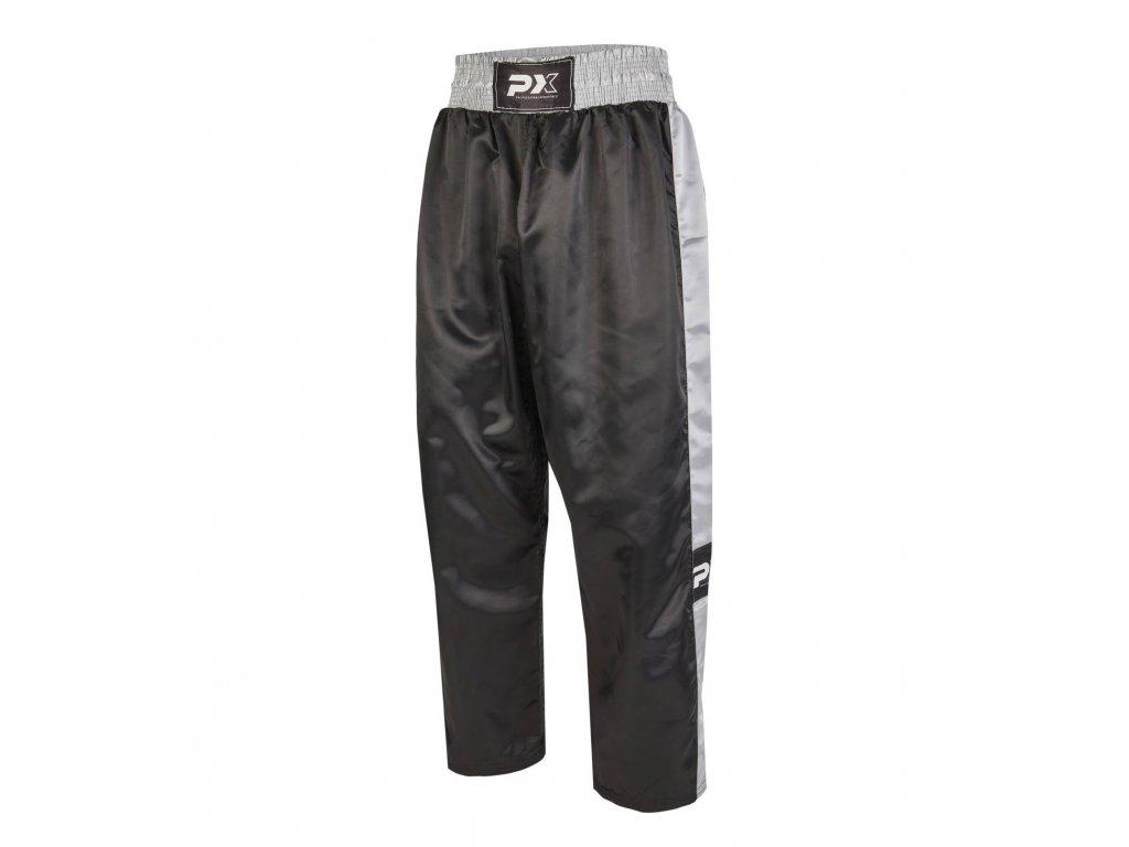Phoenix saténové kalhoty - černá/šedá