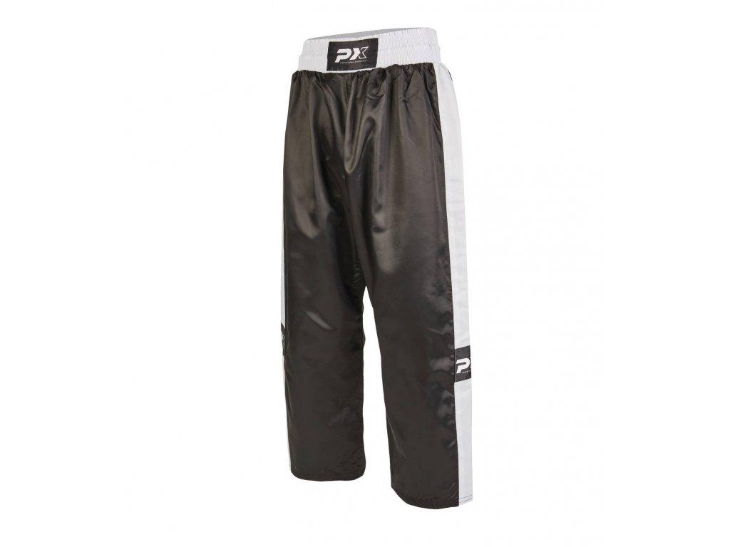 Phoenix saténové kalhoty - černá/bílá