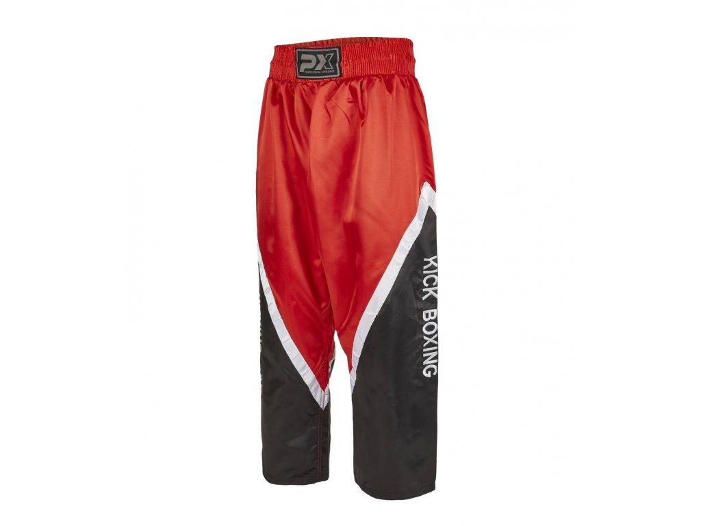 Phoenix saténové kalhoty - červená/černá