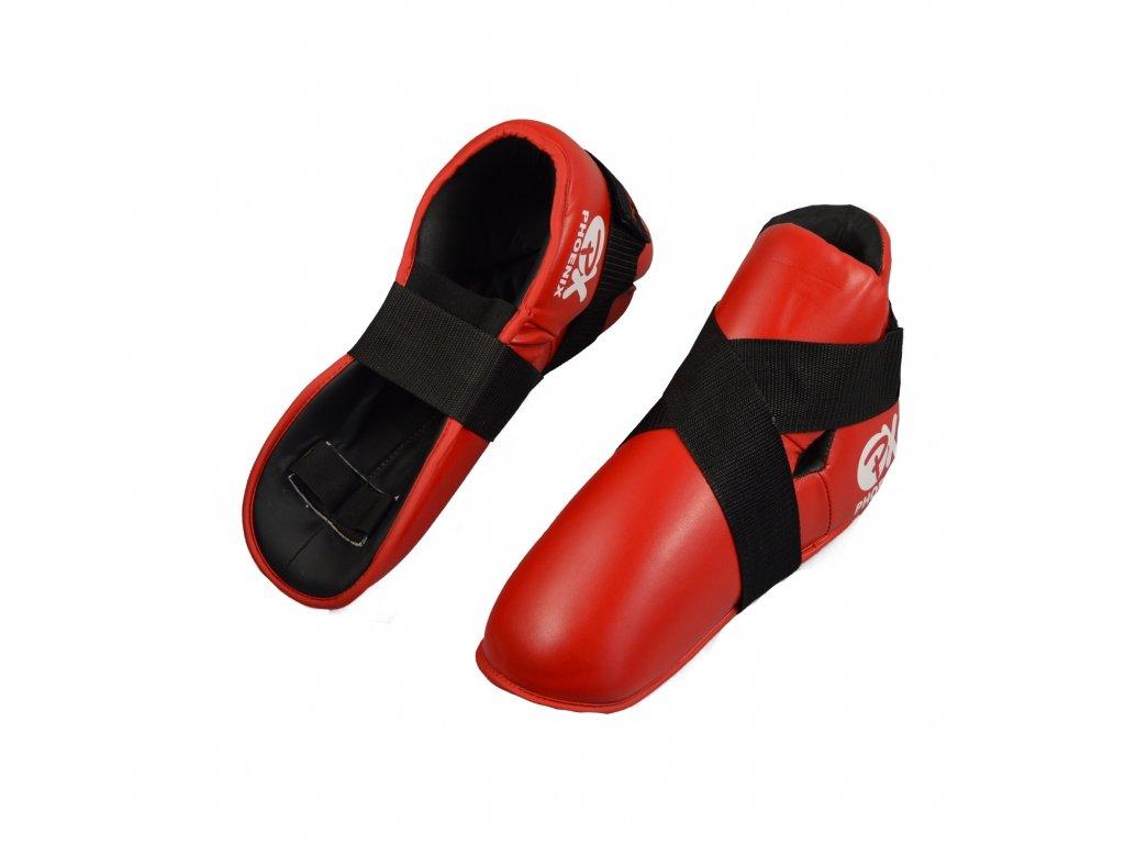Chrániče nohou Phoenix - červená barva