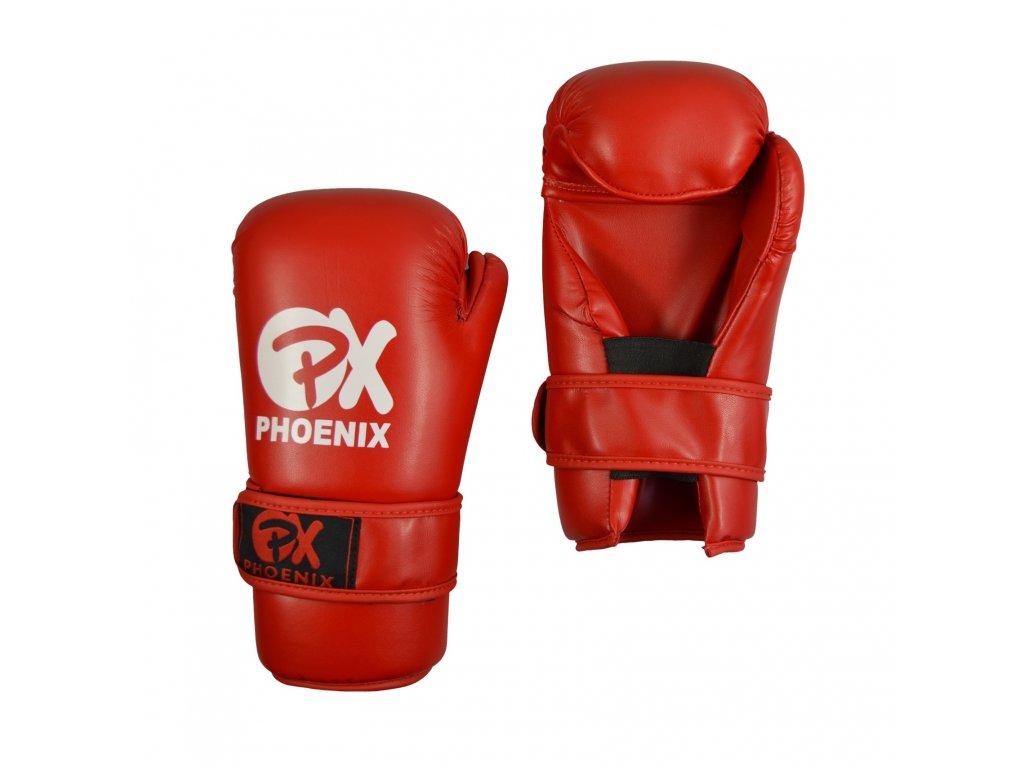 Otevřené rukavice PX - červená