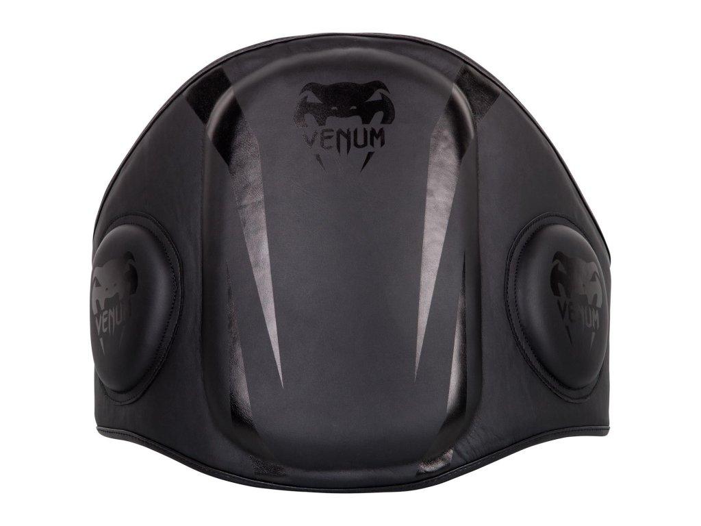 Velká  lapana pás Venum Elite Belly - černá barva/černé logo