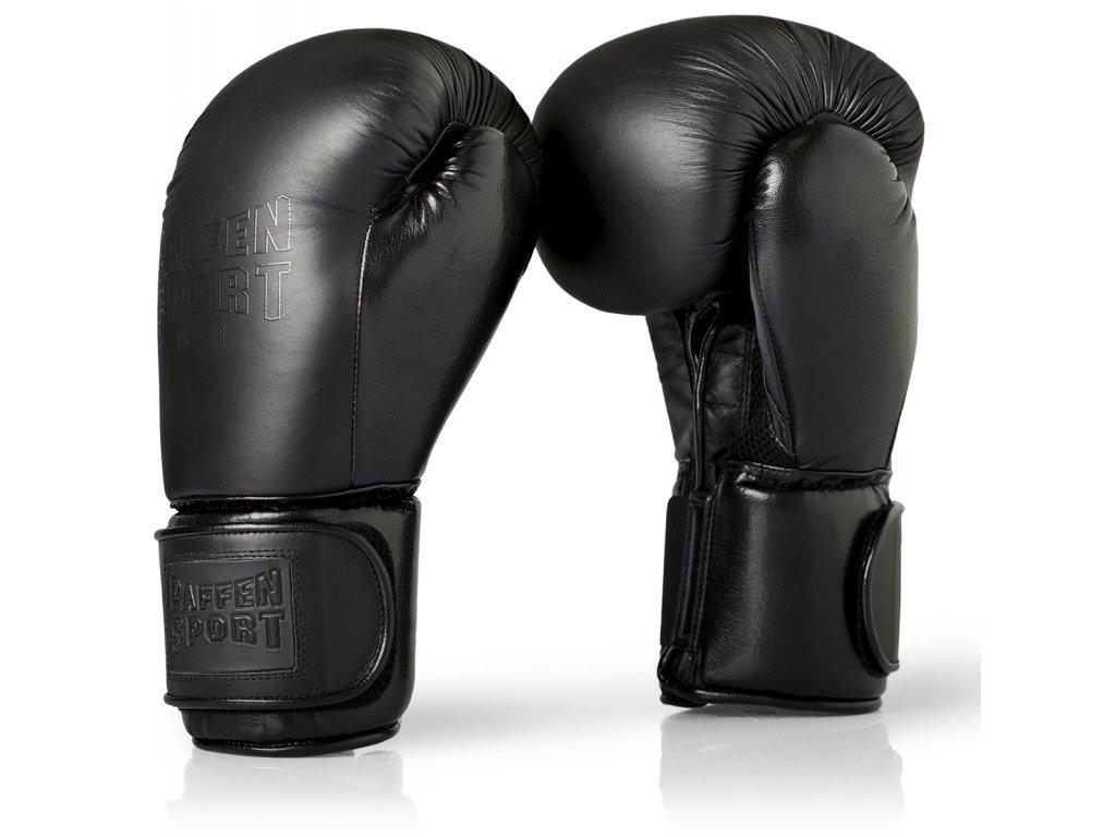 Boxerské rukavice Paffen Sport Black logo Sparring - černá barva/černé logo