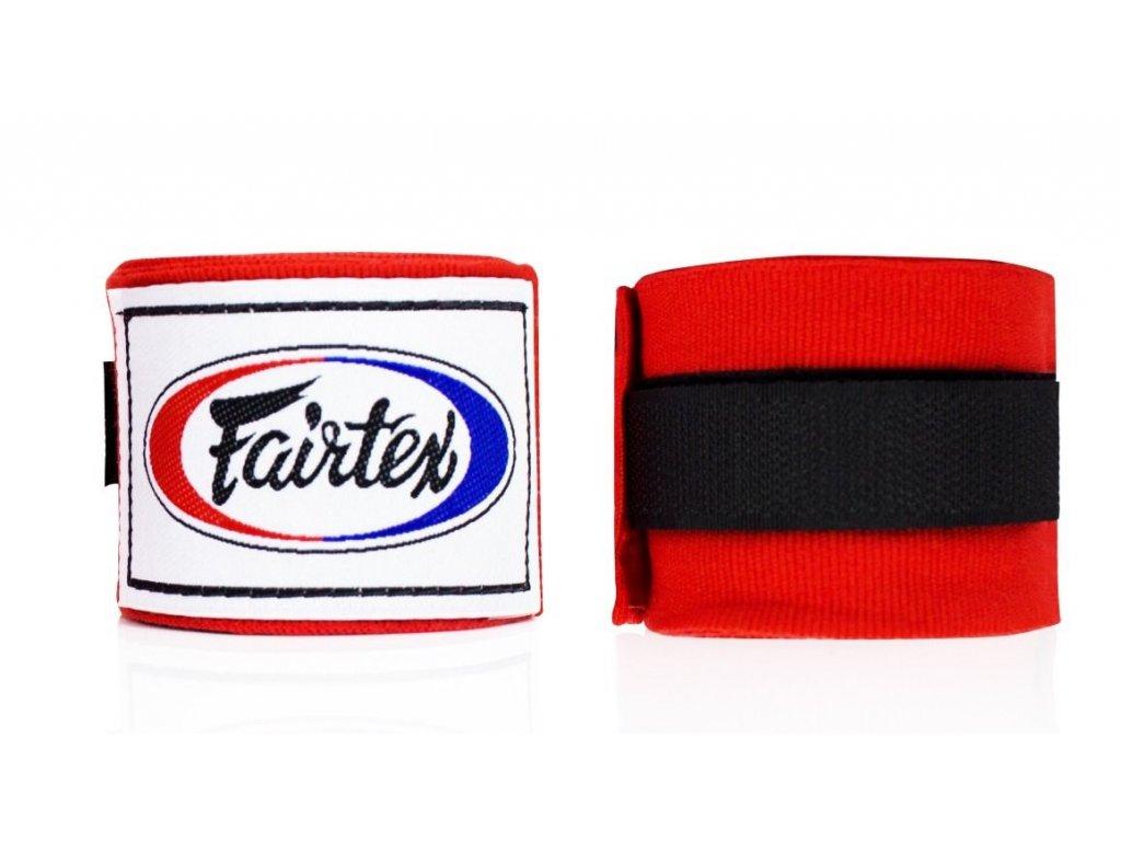 Fairtex polo-elastická bandáž 4,5 m - červená
