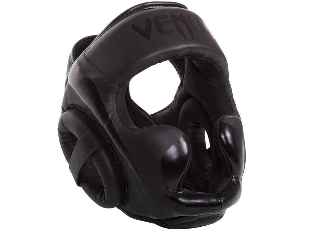 Přilba na box sparingová Venum Elite černá barva/černé logo