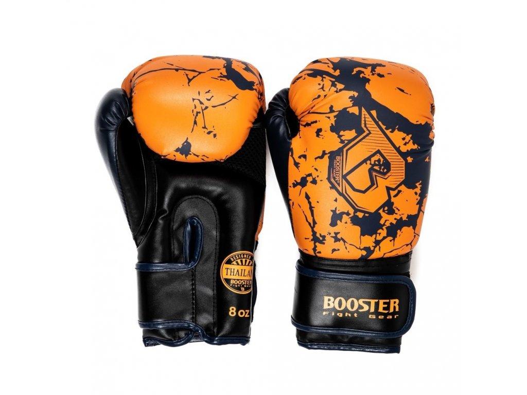 Dětské rukavice Booster Marble - oranžová/černá