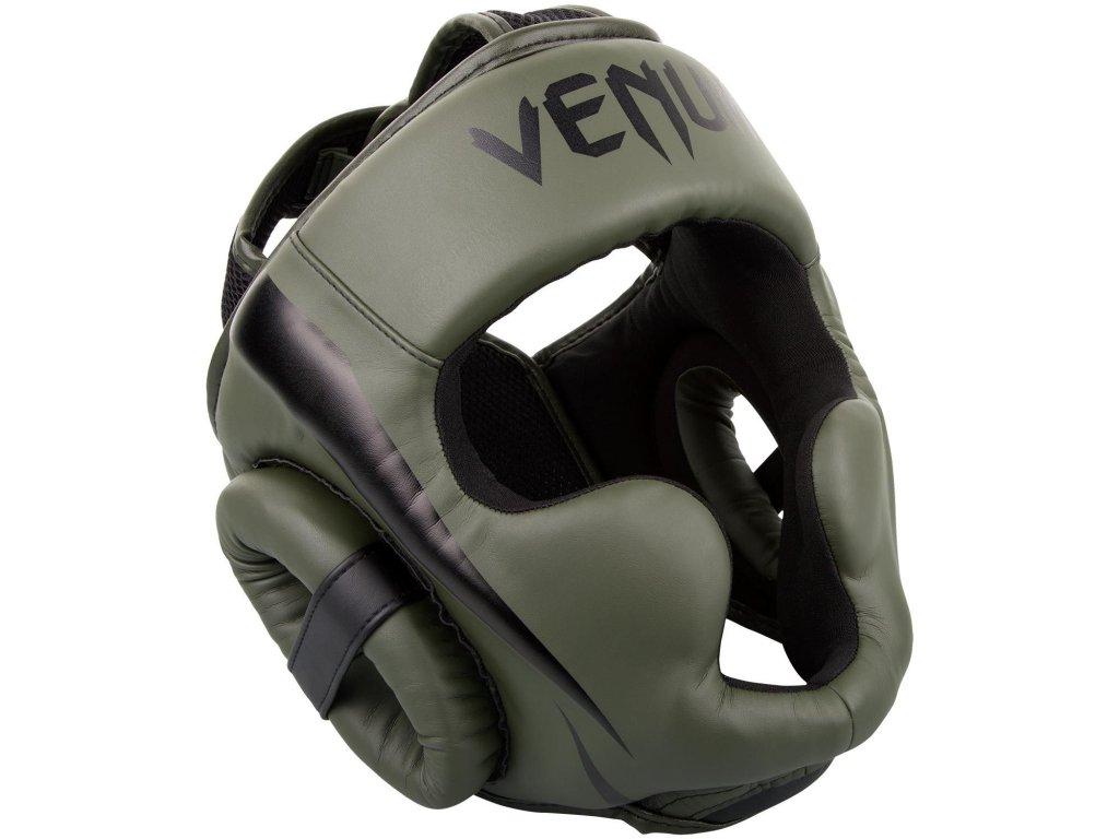 Přilba na box sparingová Venum Elite khaki barva/černé logo