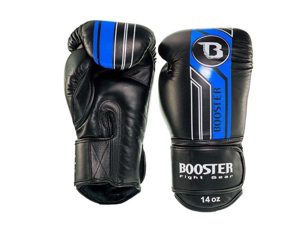 Booster kožené boxerské rukavice V9 - černá/modrá