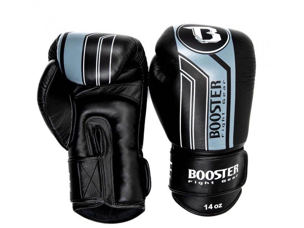 Booster kožené boxerské rukavice V9 - černá/šedá