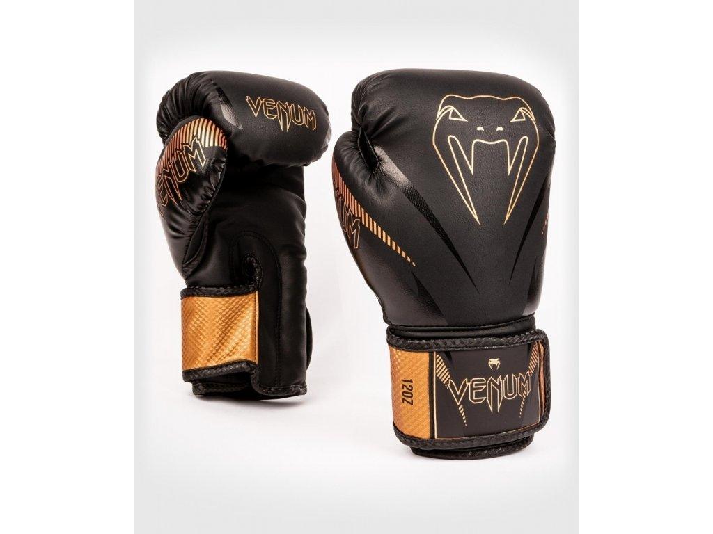 Boxerské rukavice Venum Impact - černá/bronz
