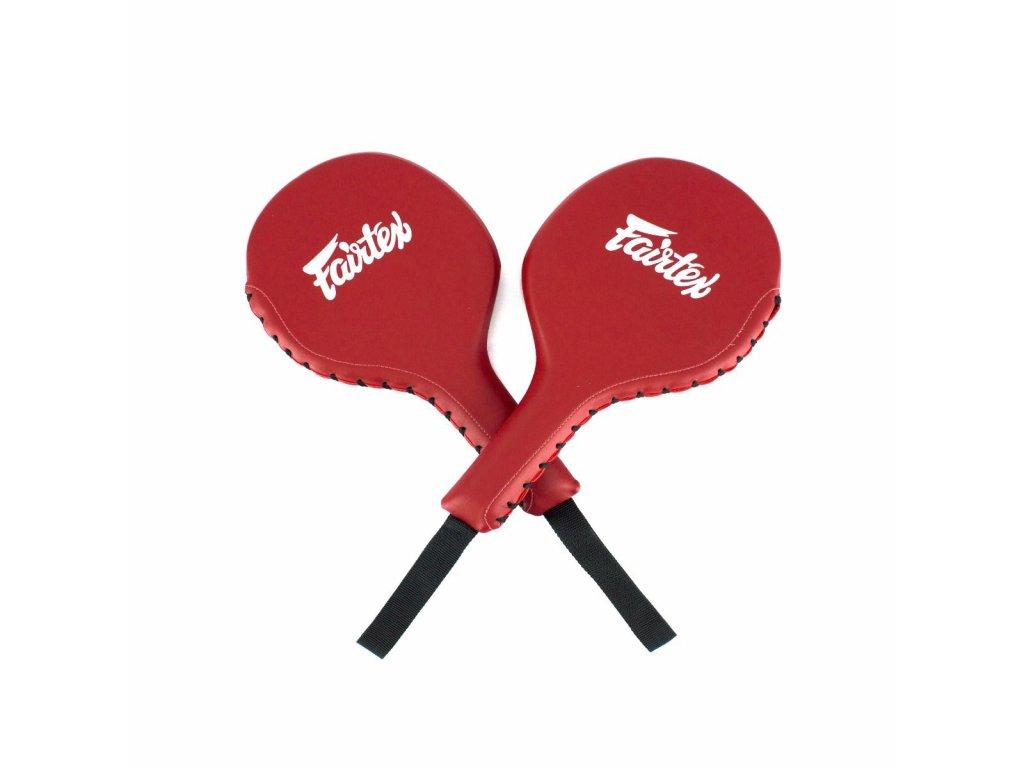 Fairtex malé lapy na box - terčovnice - červená
