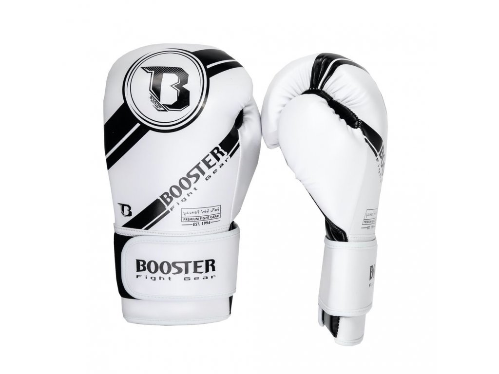 Booster boxerské rukavice Premium Striker - bílá