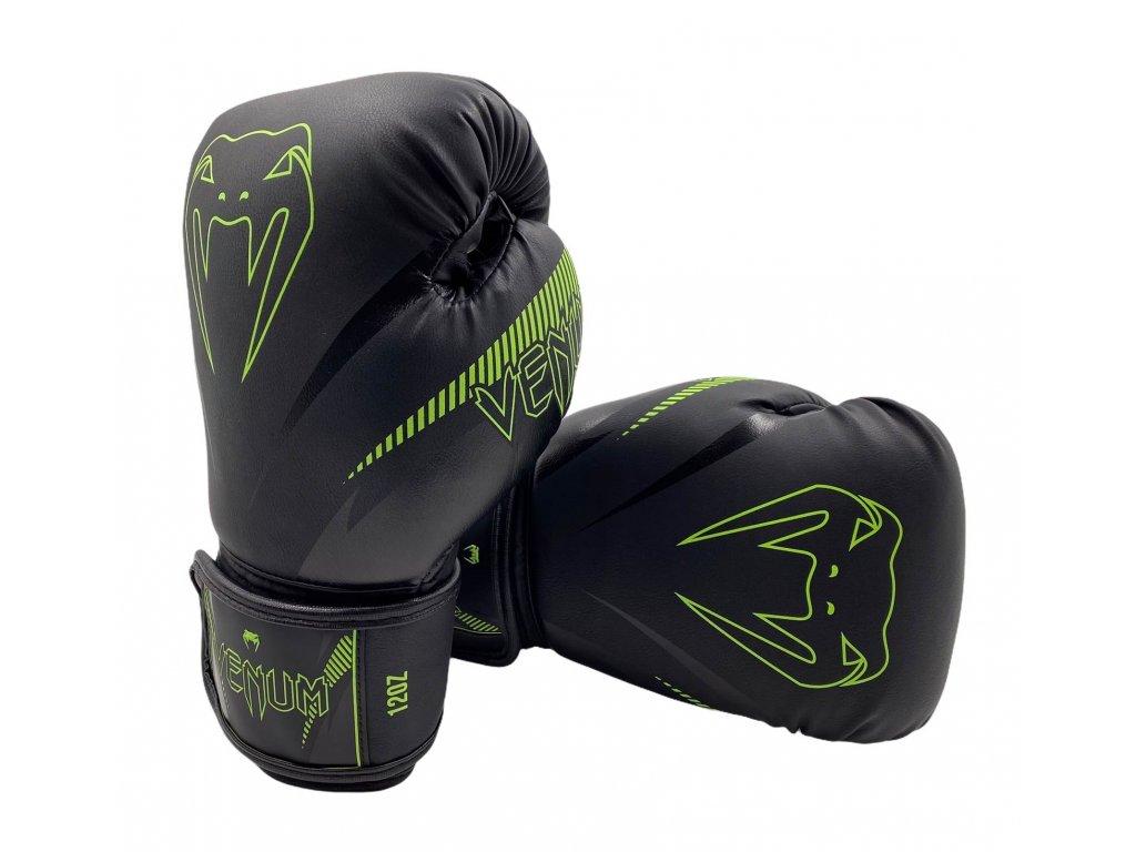 Boxerské rukavice Venum Impact - černá/neon zelená
