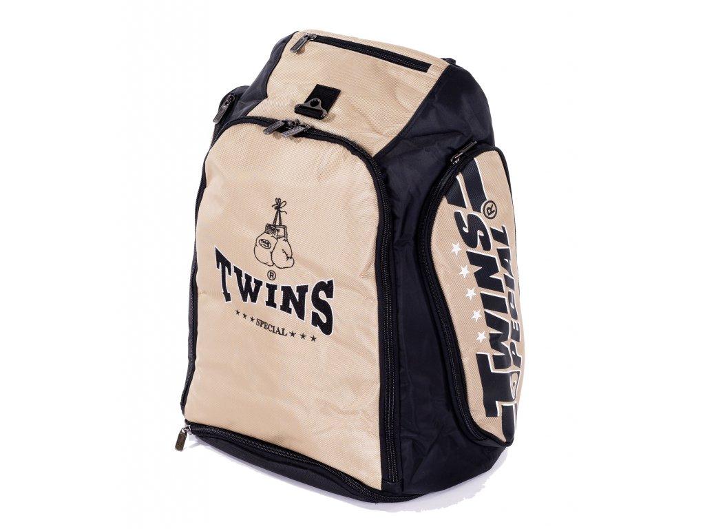 TWINS konvertibilní batoh/taška - černá/zlatá