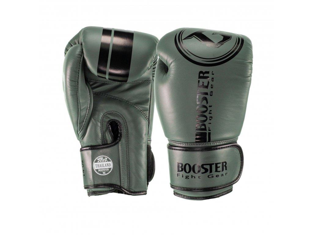 Booster kožené boxerské rukavice Dominance - zelená