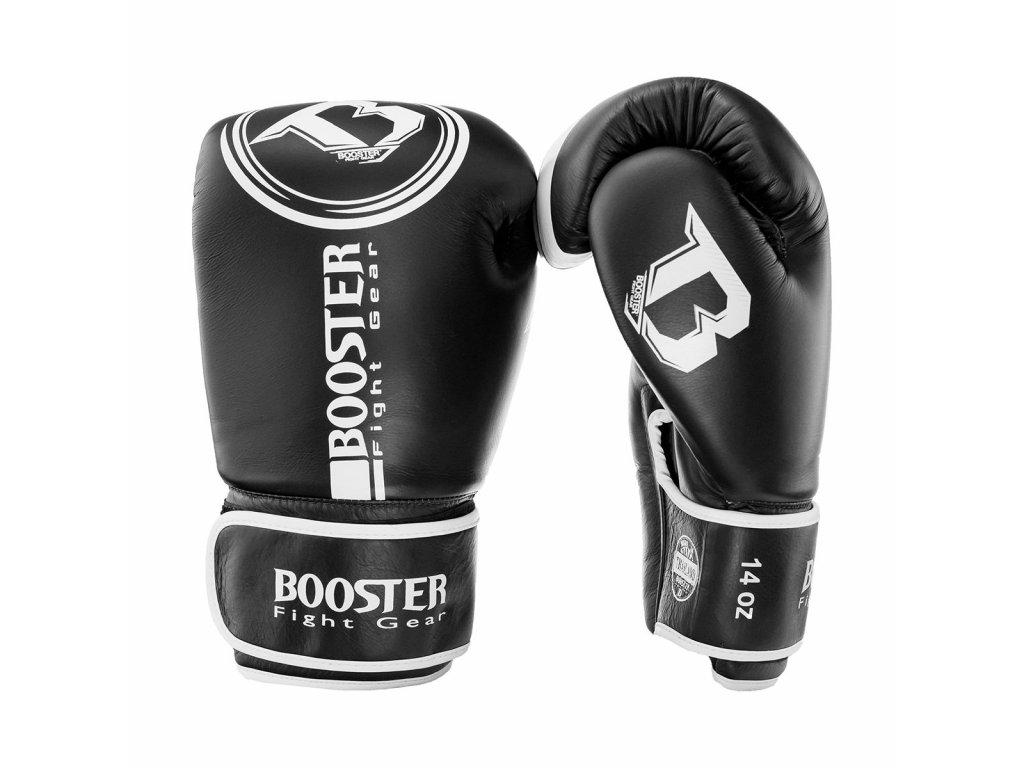 Booster kožené boxerské rukavice Dominance - černá/bílá