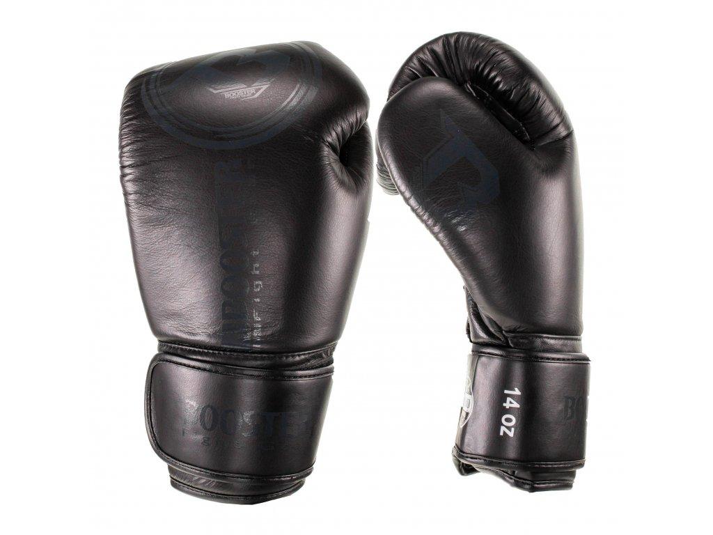 Booster kožené boxerské rukavice Dominance - černá/černá