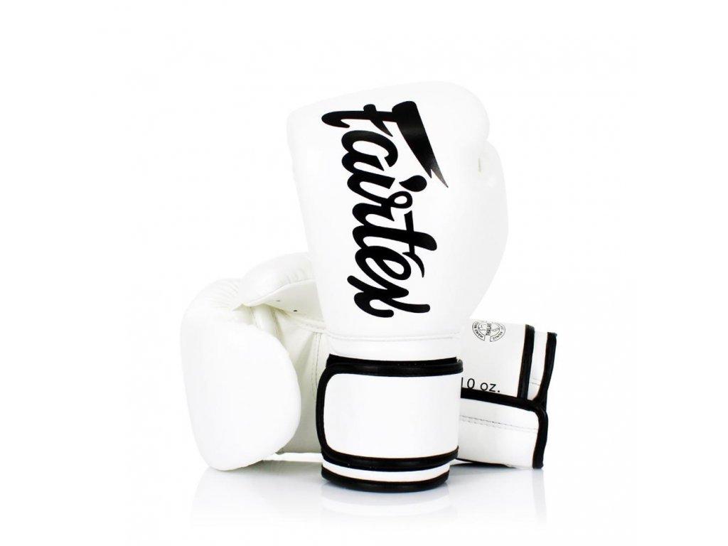 Boxerské rukavice Fairtex BGV14 - White Solid Limited Edition