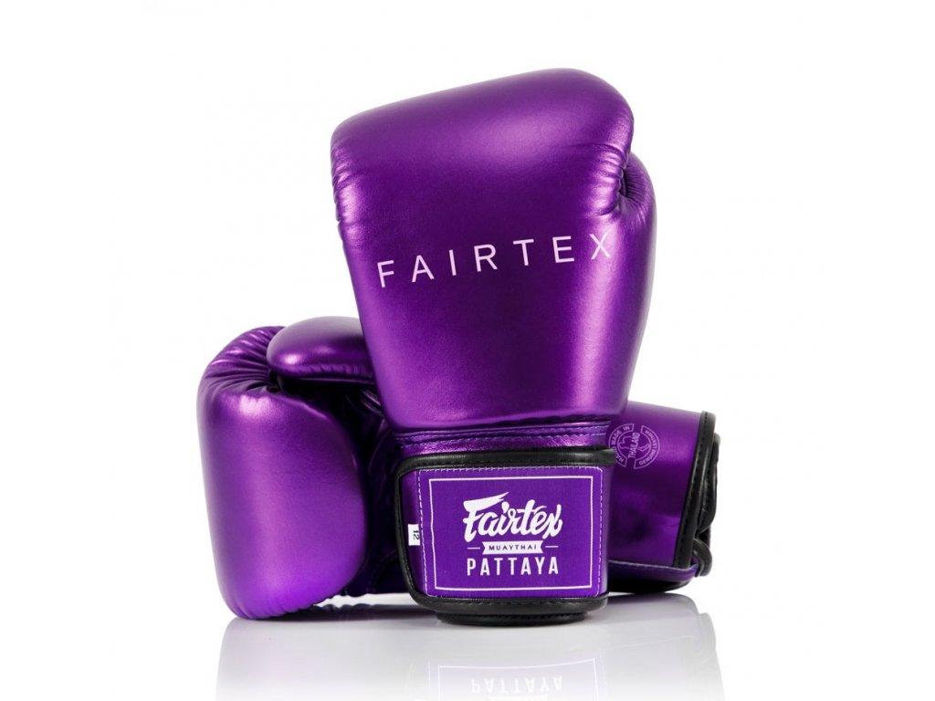 Boxerské rukavice Fairtex BGV22 Metallic - fialová