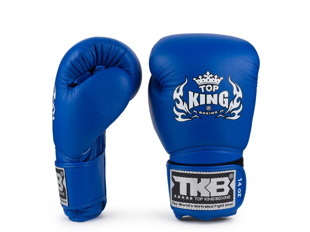 Top King kožené boxerské rukavice TKBGSA  Air Super - modrá