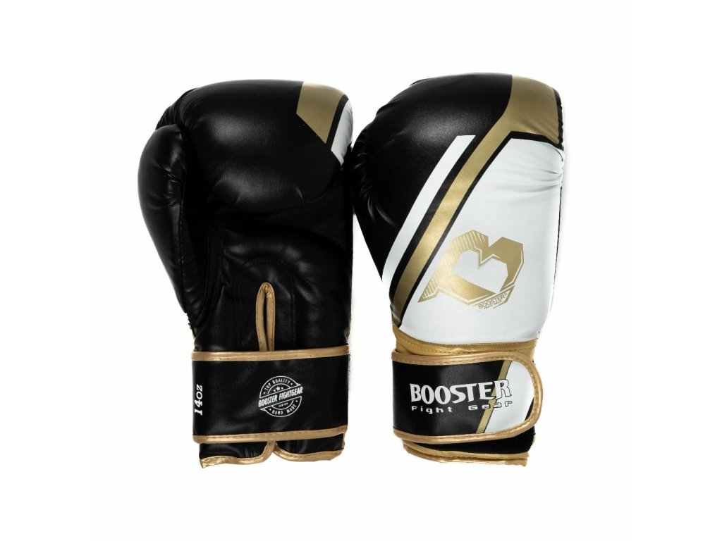 Boxerské rukavice BOOSTER  BT SPARRING V2 - černá/bílá