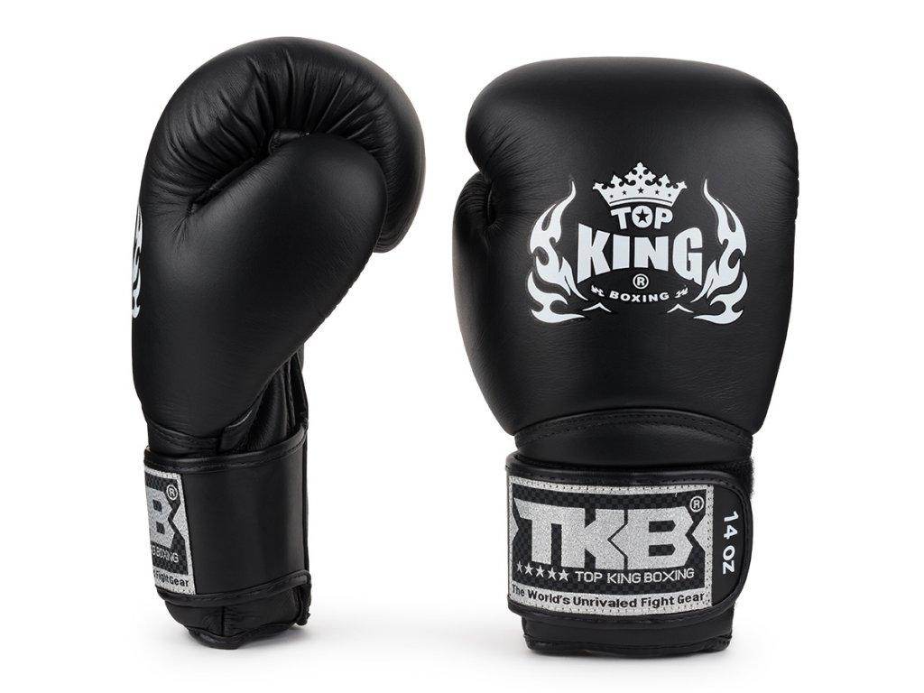 Top King kožené boxerské rukavice Super AIR  - černá