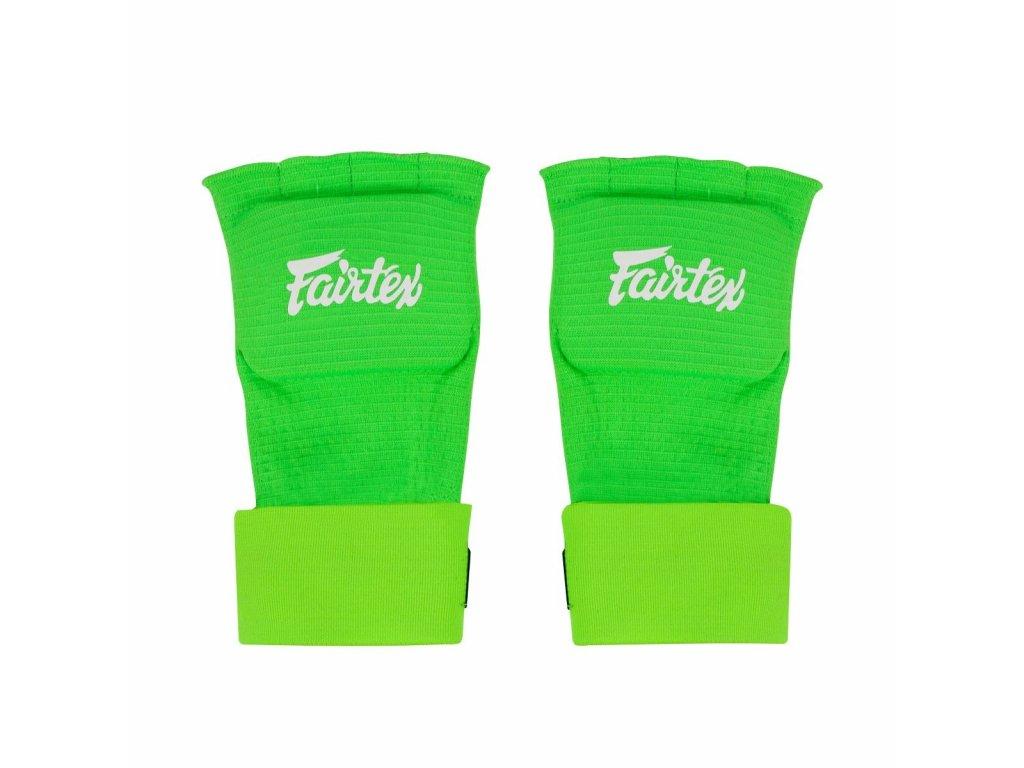Fairtex bandáže Quick Wraps - neon zelená