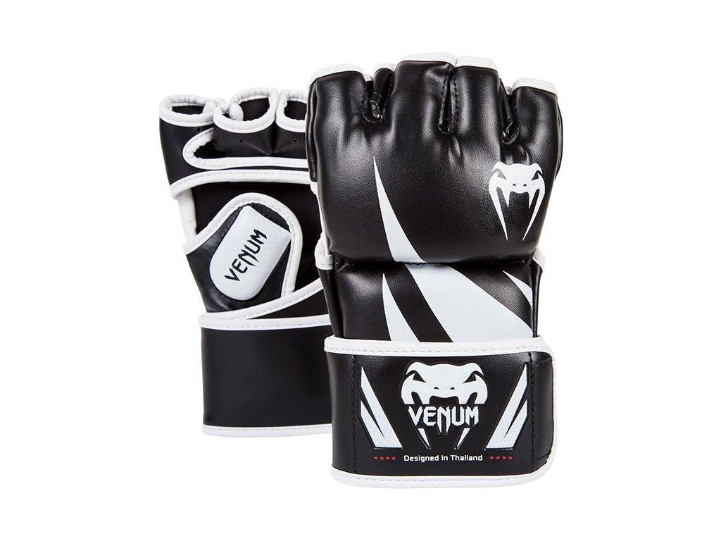 MMA rukavice Venum Challenger - černá barva/bílé logo