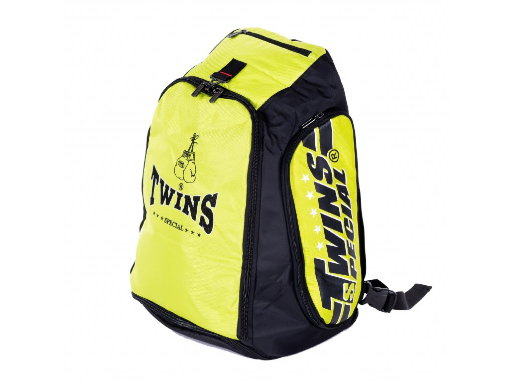 TWINS konvertibilní batoh/taška - černá/neon zelená