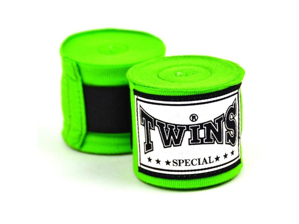 TWINS polo-elastická bandáž 4,5 m - neon zelená