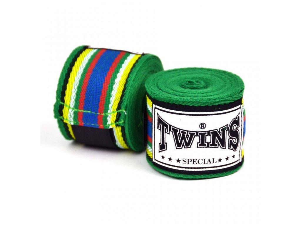 TWINS neelastická bandáž 5 m - zelená