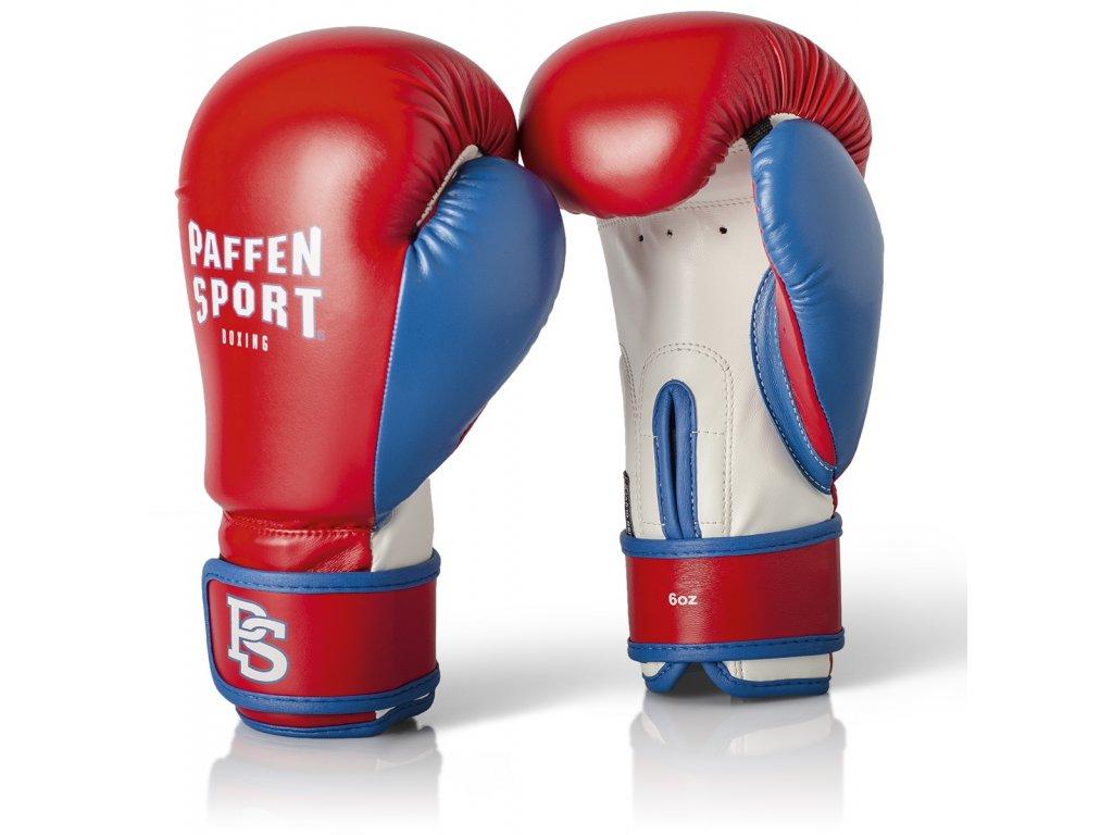 Dětské rukavice na box Paffen Sport - červená/modrá barva