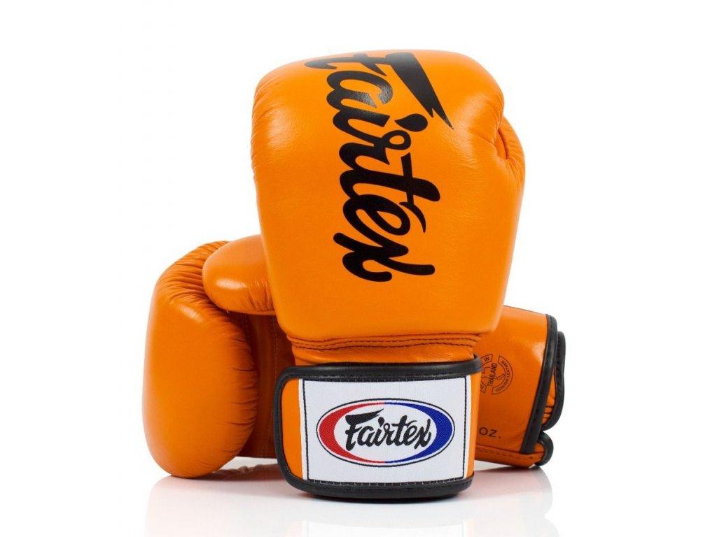 Boxerské rukavice Fairtex BGV19 - oranžová barva