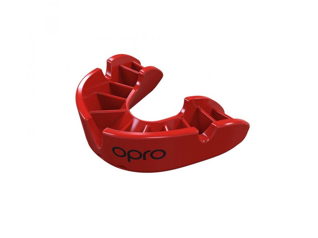 OPRO Bronz chrániče zubů - červená barva