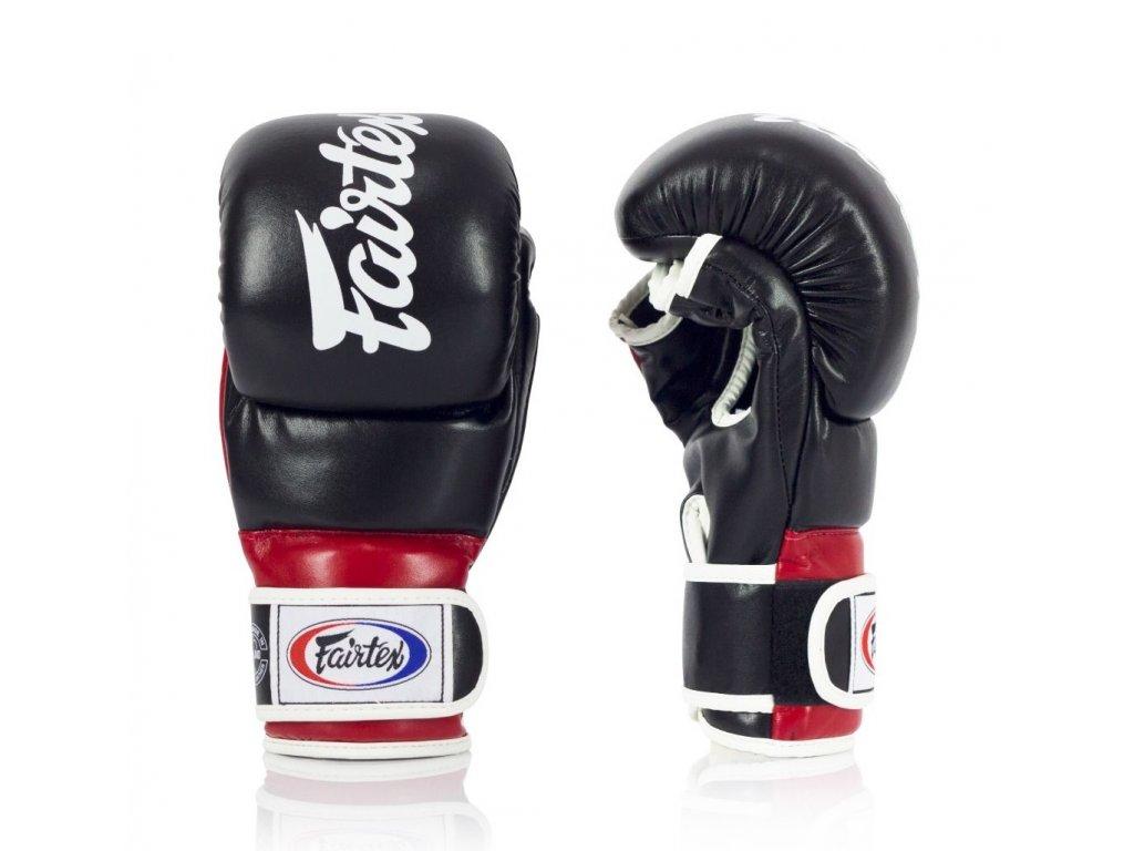 Fairtex Super Sparring MMA rukavice FGV18 – černá/červená