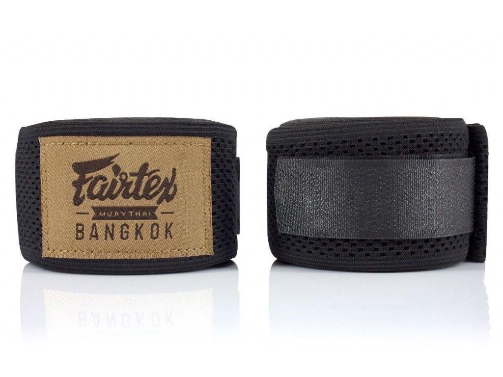 Fairtex elastická bandáž 4,5 m Mesh HW4 - černá
