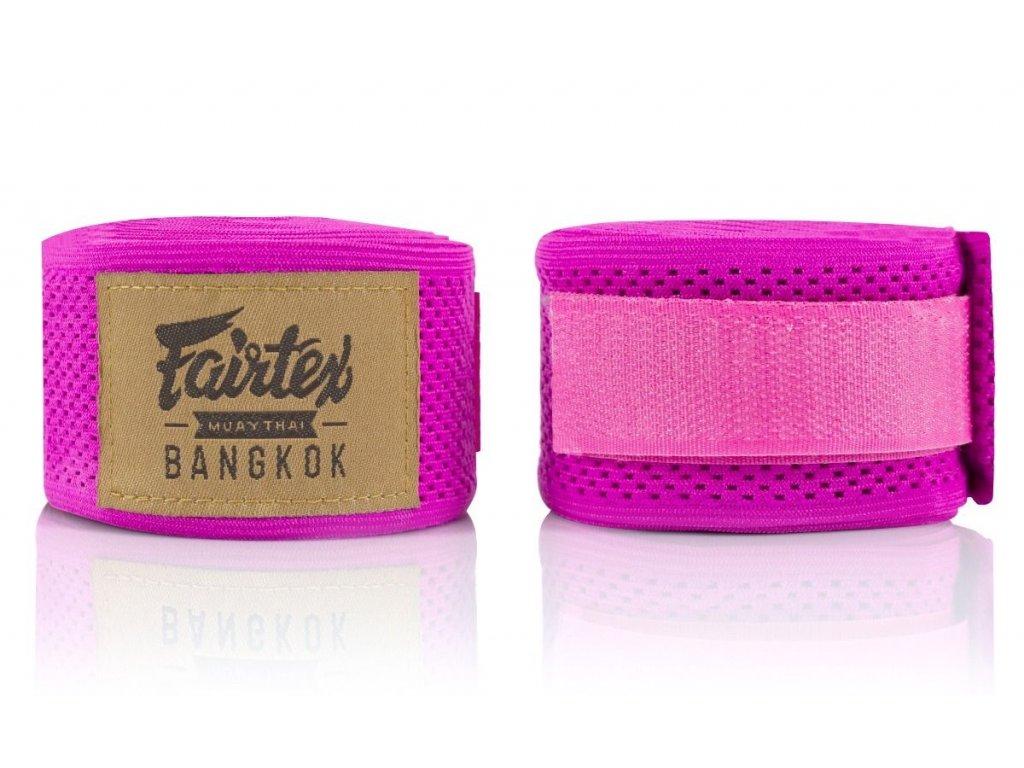 Fairtex elastická bandáž 4,5 m Mesh HW4 - růžová