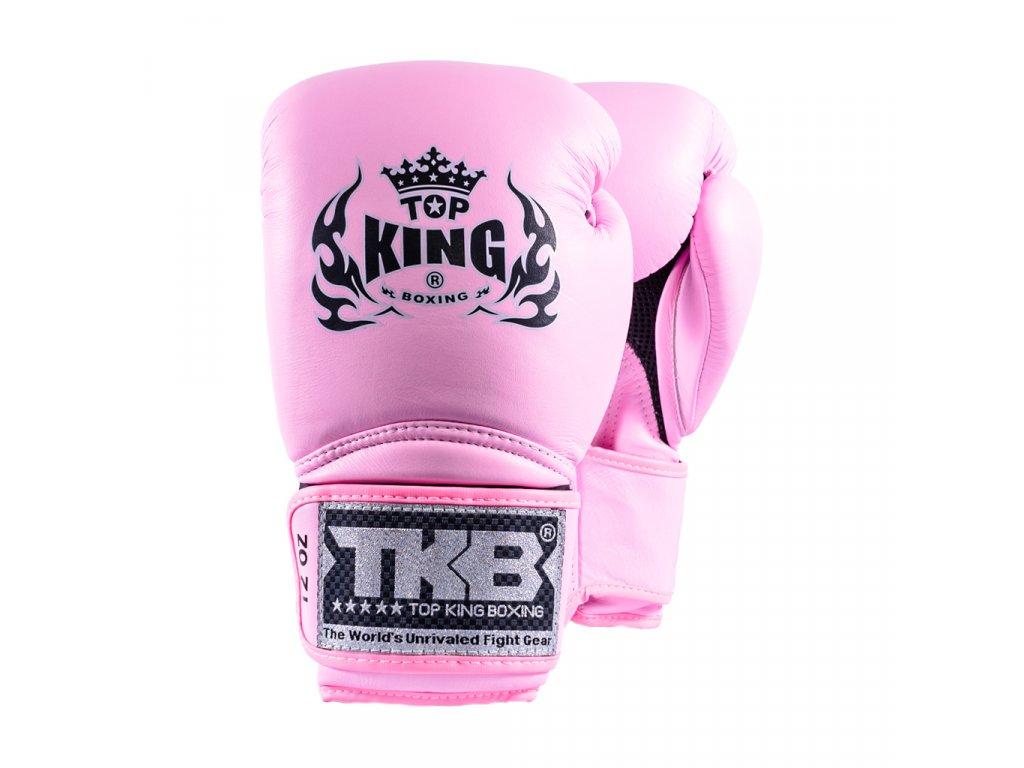 Top King kožené boxerské rukavice TKBGSA  Super AIR  - růžová