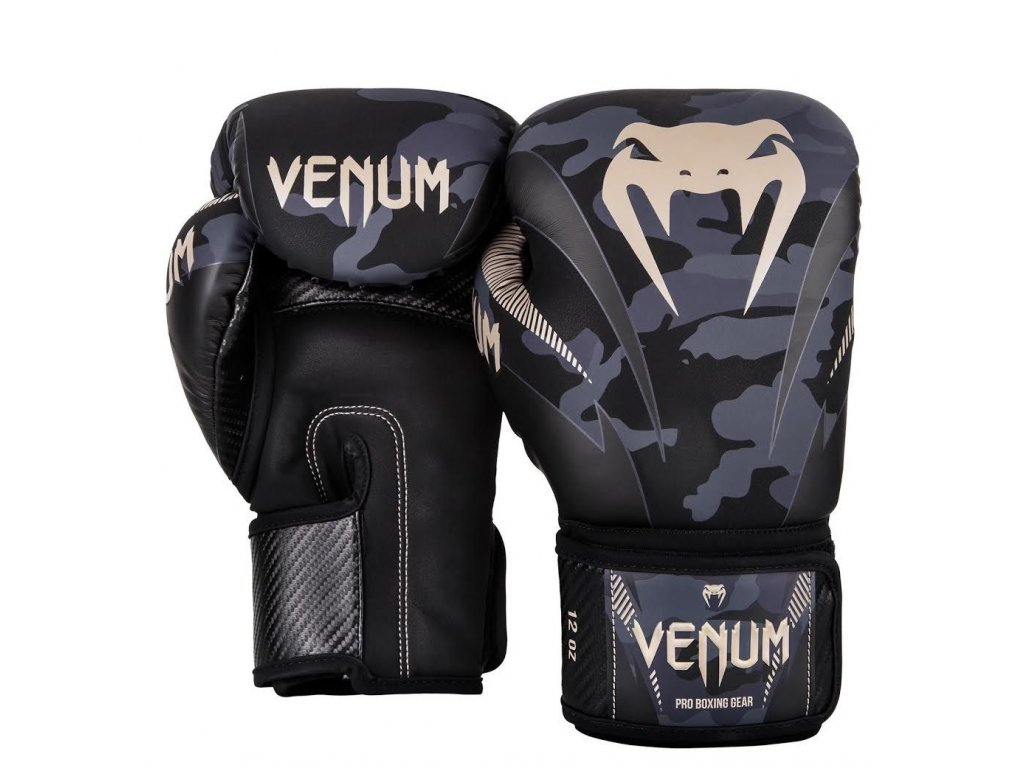 Boxerské rukavice Venum Impact - Dark Camo