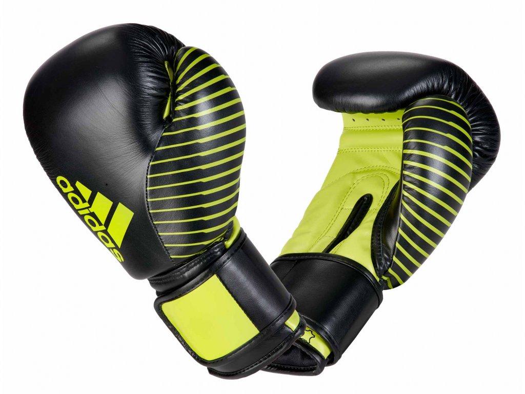 adidas boxerké rukavice adiKBWKF200 - černá/neon zelená