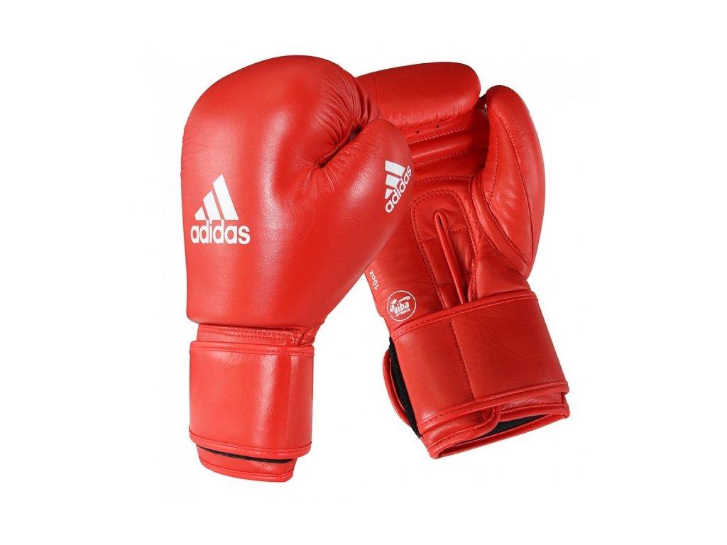 adidas boxerké rukavice AIBA - červená