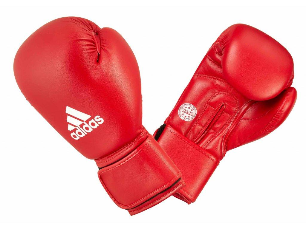 adidas boxerké rukavice WAKO syntetická kůže - červená