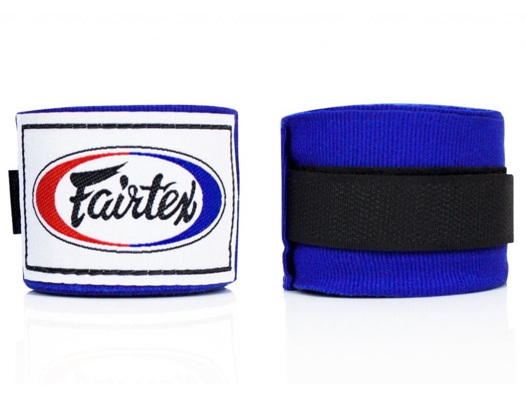 Fairtex polo-elastická bandáž 4,5 m - modrá