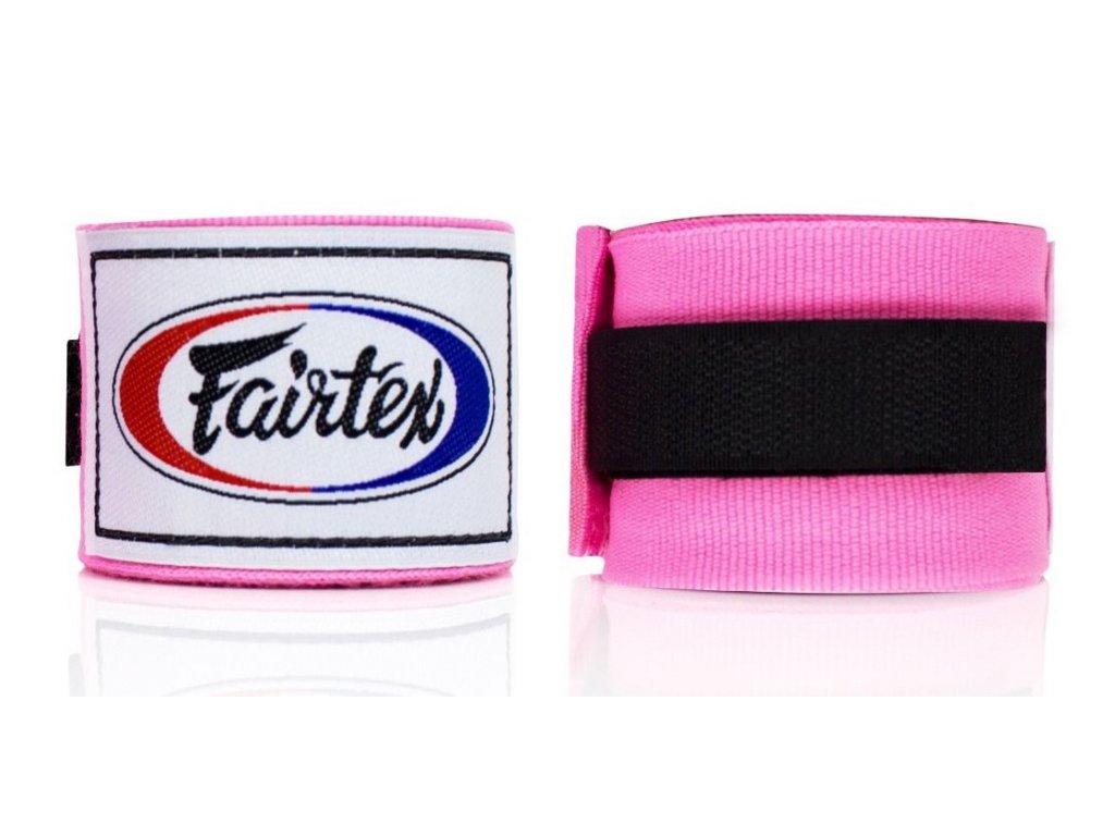 Fairtex polo-elastická bandáž 4,5 m - růžová