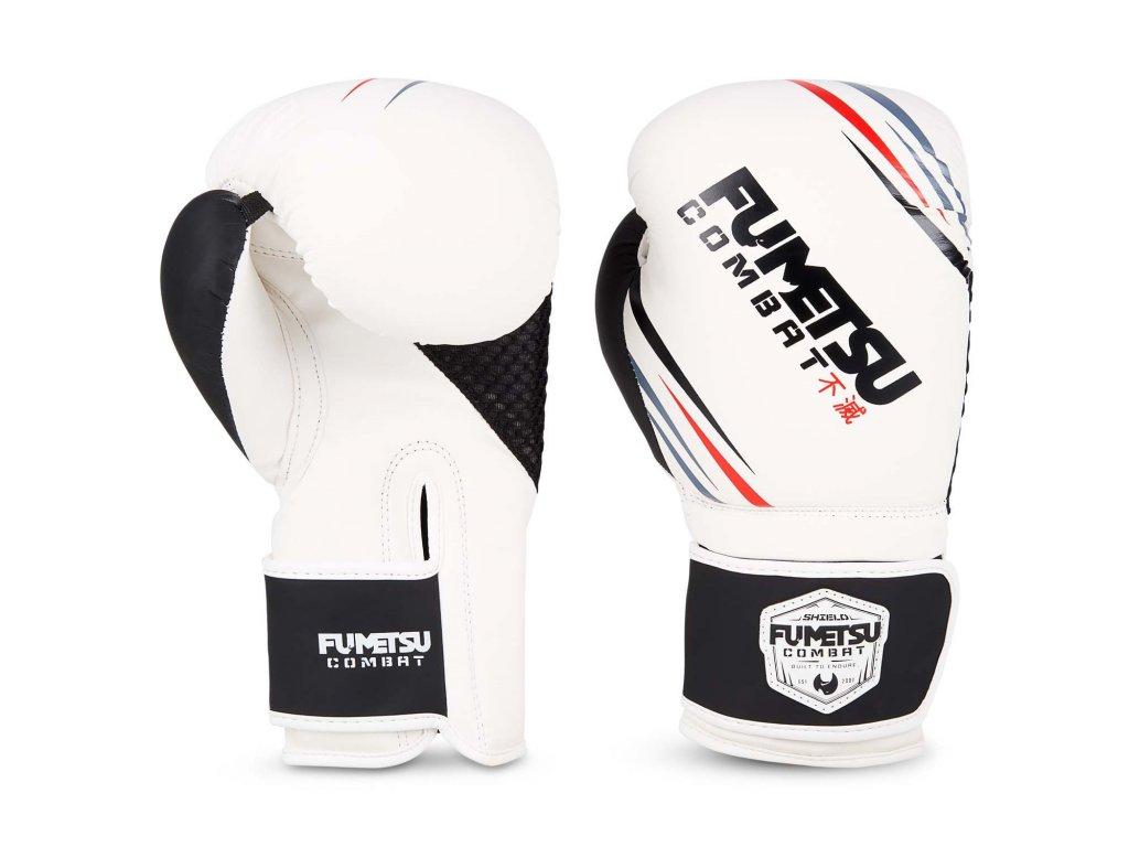 Fumetsu boxerské rukavice Shield - bílá/černá